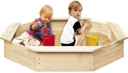 Drewniana piaskownica dla dzieci 8-częściowa FSC