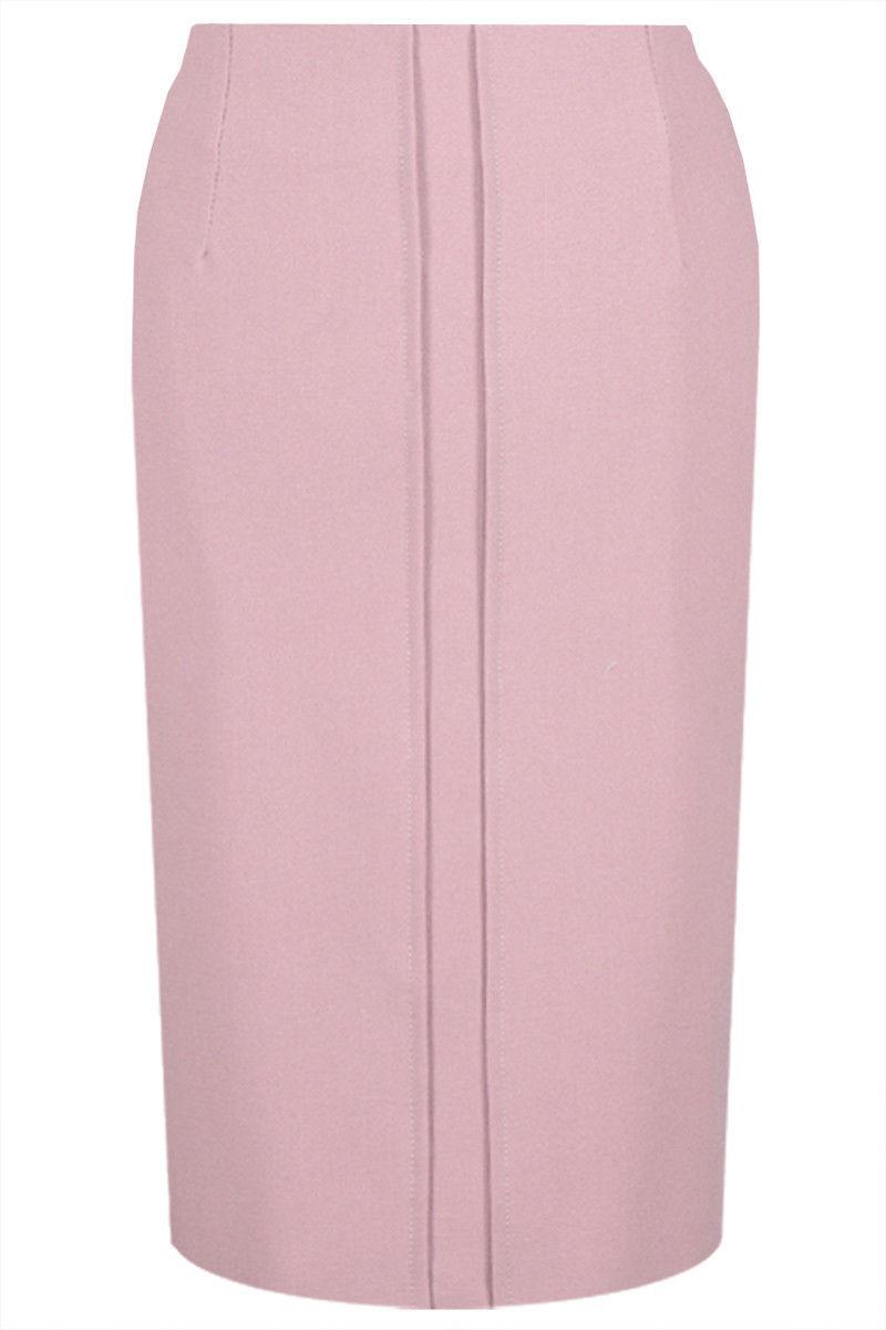 Spódnica klasyczna ołówkowa w kolorze różu FSP622 RÓŻOWY BRUDNY