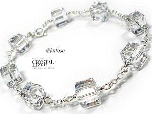 Swarovski Bransoletka Srebro kostki Crystal