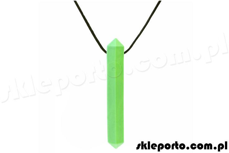 Gryzak logopedyczny Krypto-bite naszyjnik w kształcie kryształu - miękki