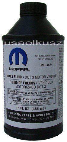 Płyn hamulcowy MOPAR MS-4574 DOT3 MS4574 DOT-3