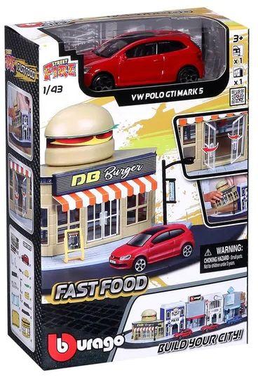 Bburago City 1:43 Fast Food + VW Polo GTI MARK 5