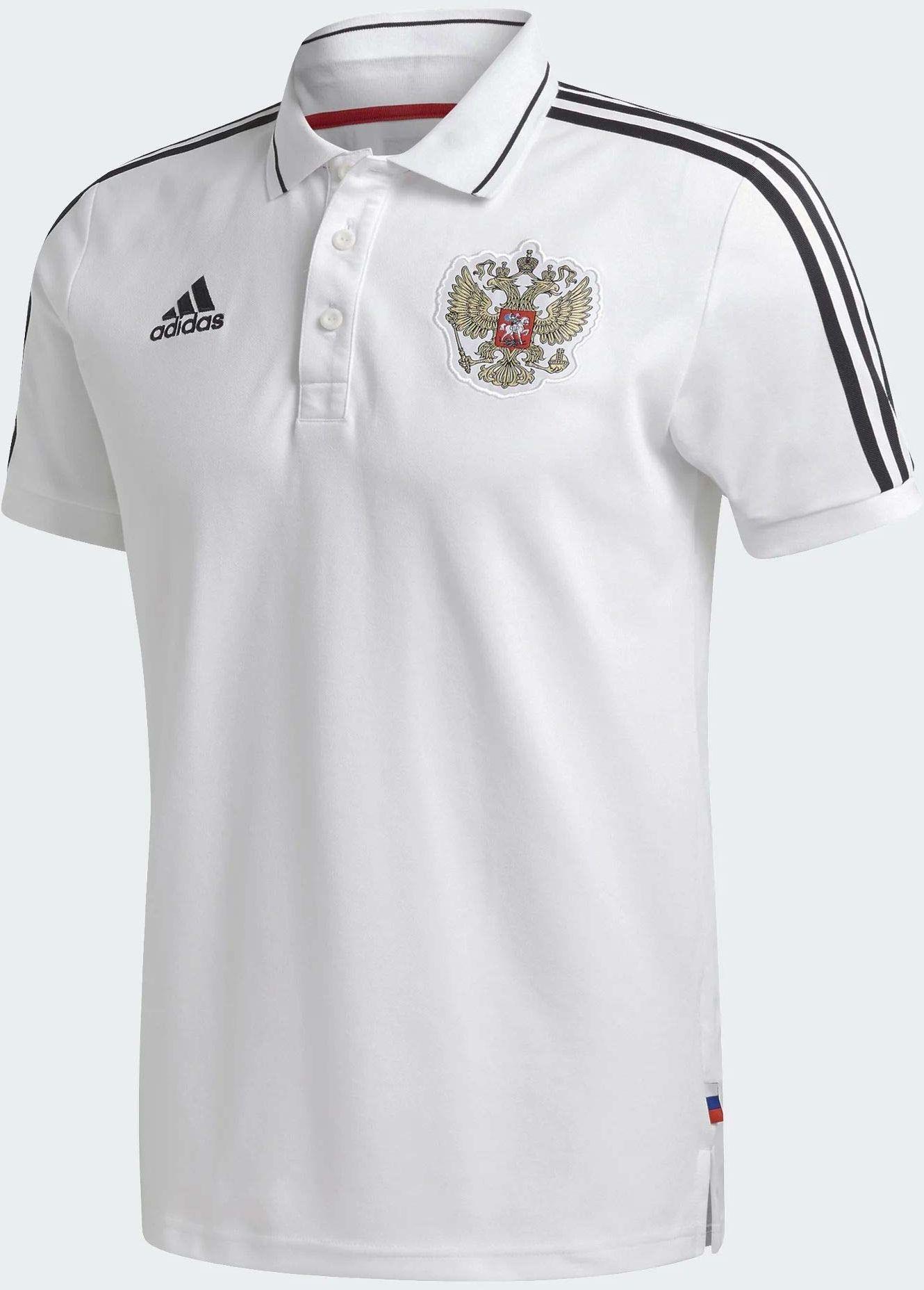 adidas Rfu 3s koszulka polo męska biały biały X-S