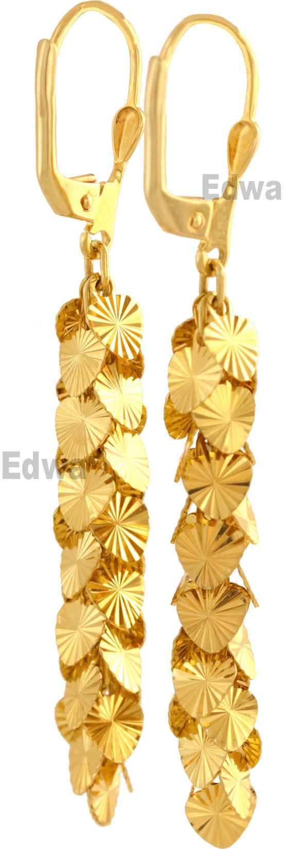 Kolczyki złote wiszące Serduszka pr.585
