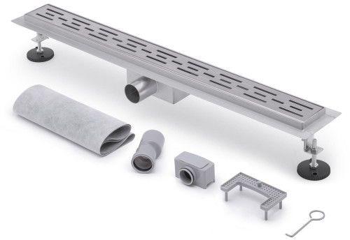 Odpływ liniowy 80cm - do zabudowy kafelkami, metalowy syfon