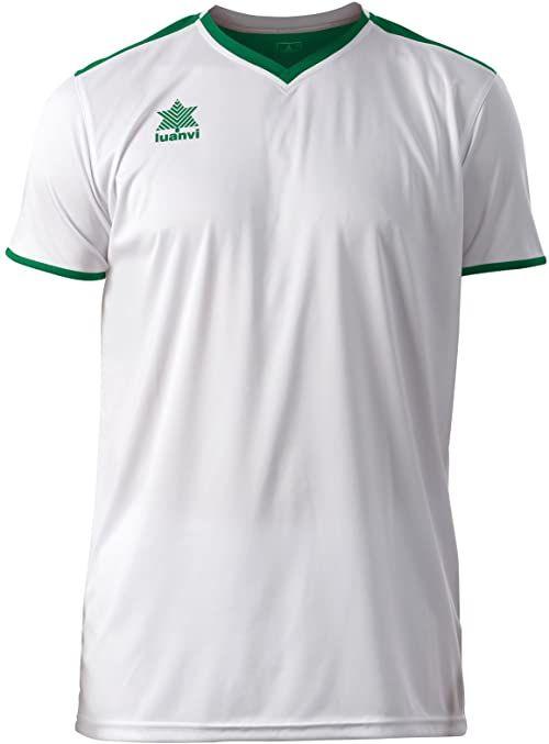 Luanvi Męski T-shirt Match z krótkimi rękawami. biały biały 3XS