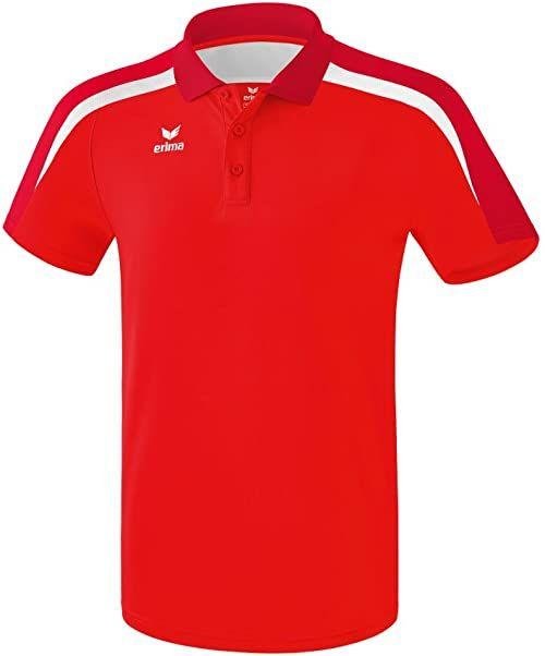 Erima Dziecięca koszulka polo LIGA 2.0, czerwony/ciemnoczerwony/W, 164