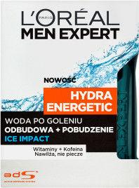 LOréal Paris Men Expert Hydra Energetic woda po goleniu 100 ml + do każdego zamówienia upominek.