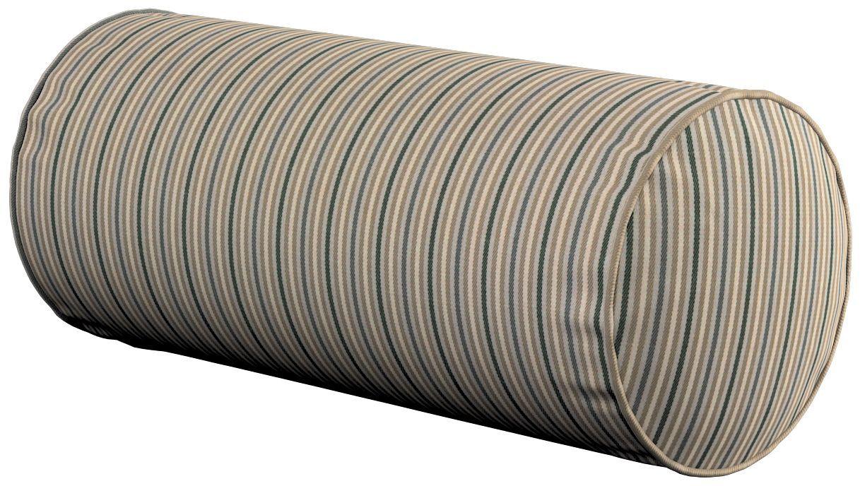 Poduszka wałek prosty, oliwkowo-beżowe pasy, Ø16  40 cm, Londres