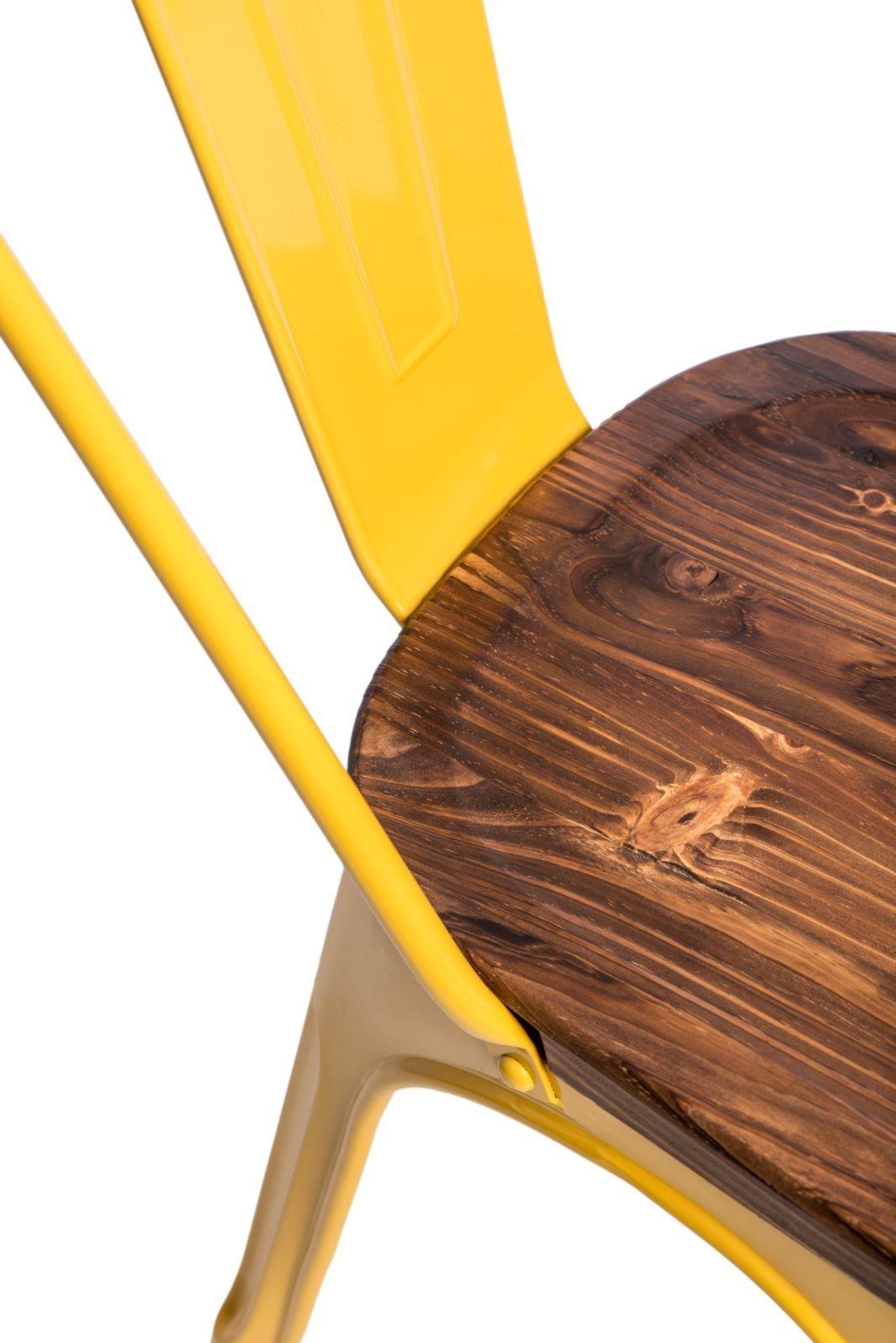 D2 Krzesło Paris Wood żółty sosna