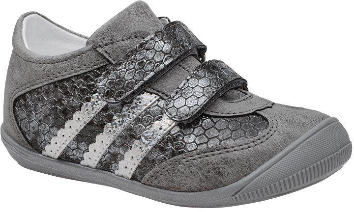 Sneakersy Półbuty KORNECKI 4869 Popielate Grafitowe na rzepy