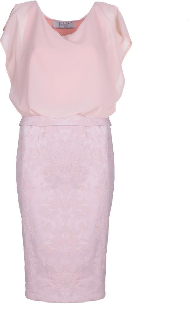 Sukienka FSU623 ŁOSOSIOWY JASNY