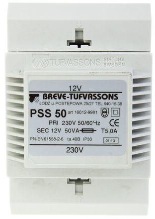 Transformator 1-fazowy modułowy PSS 50VA 230/12V 16012-9981