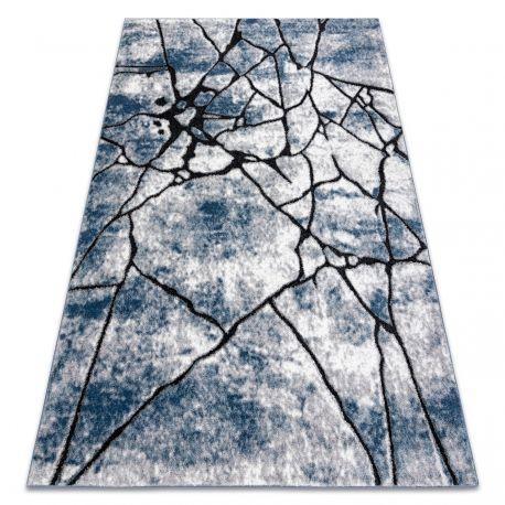 Dywan nowoczesny COZY 8873 Cracks Popękany beton - Strukturalny, dwa poziomy runa niebieski 80x150 cm