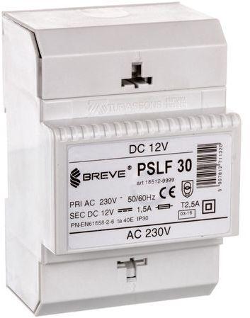 Zasilacz transformatorowy PSLF 30 230VAC/12VDC 18W 1,5A /z filtrem/ 18512-9999