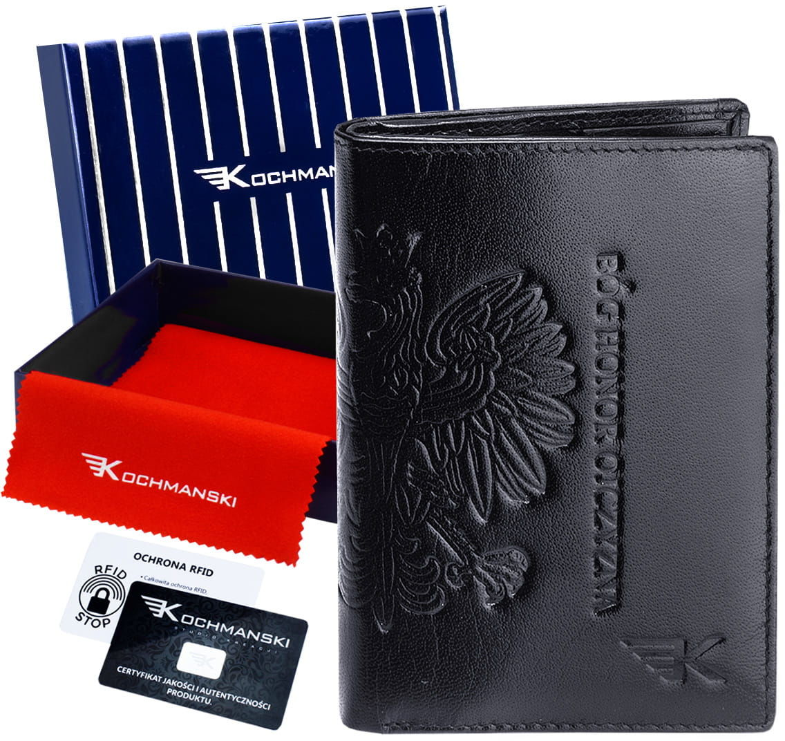 KOCHMANSKI skórzany portfel męski PREMIUM cienki 3043