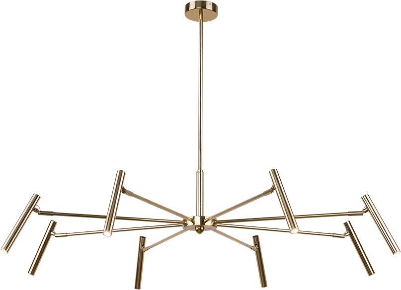 Lampa wisząca Livo 0403 Amplex złota oprawa w nowoczesnym stylu