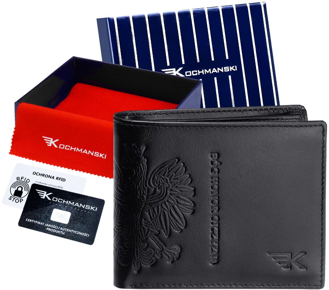 KOCHMANSKI skórzany portfel męski PREMIUM mały 3052