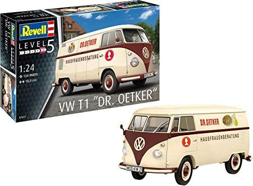 Revell 07677 Volkswagen T1 Bus Dr. Oetker zestaw modeli 1:24, nielakierowana