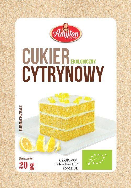 Cukier Cytrynowy Ekologiczny 20g - Amylon