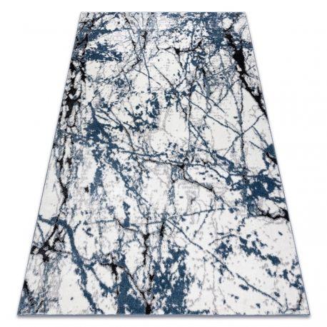 Dywan nowoczesny COZY 8871 Marble, Marmur - Strukturalny, dwa poziomy runa niebieski 80x150 cm