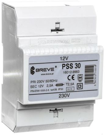 Transformator 1-fazowy modułowy PSS 30VA 230/12V 16012-9983