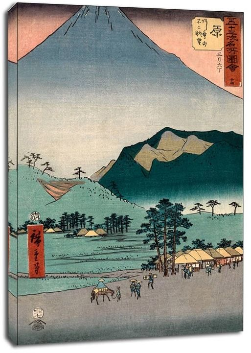 Hara view of fuji and the ashitaka mountains, hiroshige - obraz na płótnie wymiar do wyboru: 50x70 cm