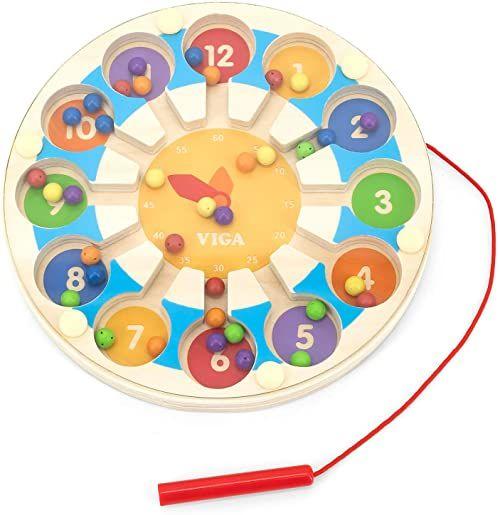 Viga Toys  gra magnetyczna  zegarek i kolory