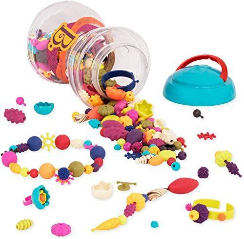 B. toys 300-częściowy zestaw biżuterii do zabawy  kolorowe koraliki pop biżuteria dla dzieci do majsterkowania  zestaw do majsterkowania dla dziewczynek i dzieci od 4 lat