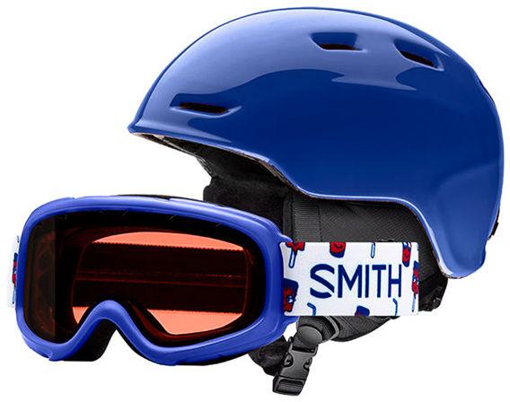 Smith ZOOM JR/GAMBLER Klein Blue / RC36 kask snowboardowy - 53-58