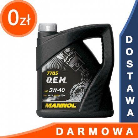 Mannol 7705 OEM Renault Nissan 5W40 4l DARMOWA DOSTAWA
