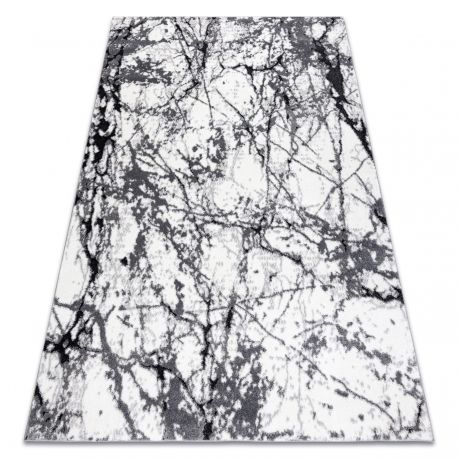 Dywan nowoczesny COZY 8871 Marble, Marmur - Strukturalny, dwa poziomy runa szary 80x150 cm