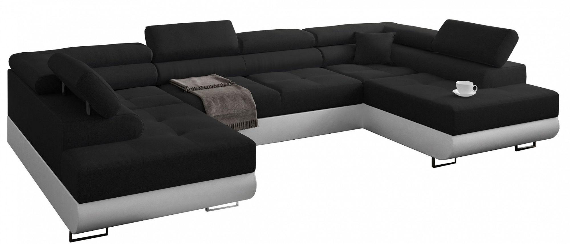 Nowoczesna kanapa narożna - Herna 3X 45 kolorów