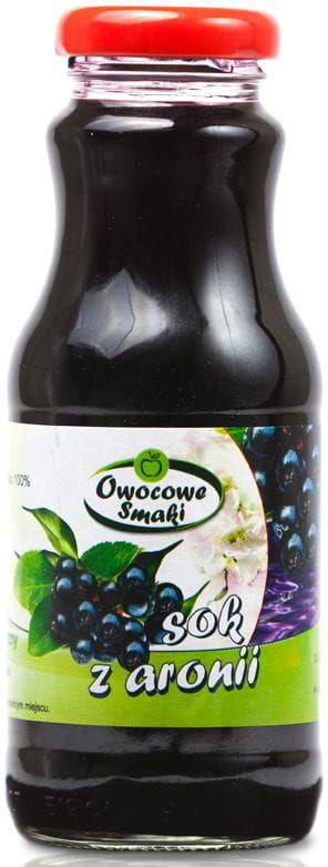 Sok z aronii bio 250 ml - owocowe smaki