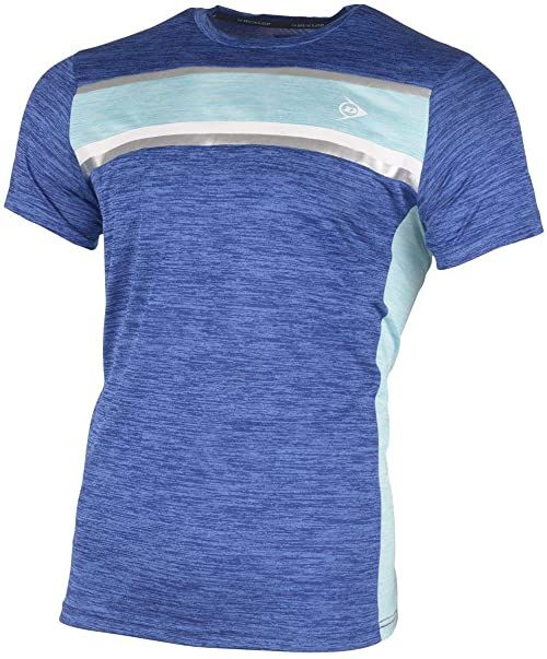 Dunlop Męska koszulka 72223-L Performance Line Crew T-shirt, kobalt/wodny, L