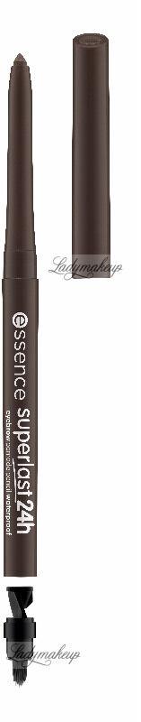 Essence - Superlast 24h - Eyebrow Pomade Pencil - Wodoodporna pomada do brwi w kredce z pędzelkiem i temperówką - 40 COOL BROWN
