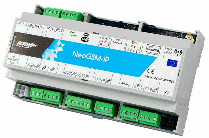 Ropam Elektronik NeoGSM-IP-D9M centrala alarmowa (8/8 I/O, GSM, WIFI) - Szybka wysyłka, Możliwy