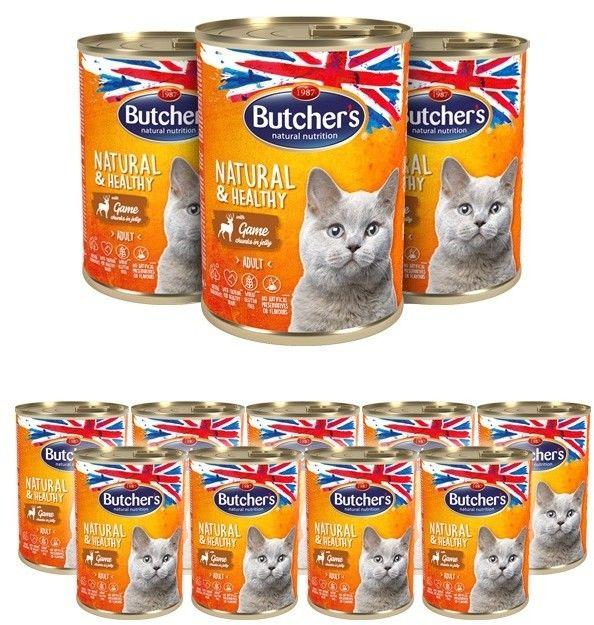 Butcher''s Natural&Healthy Cat z dziczyzną kawałki w galarecie 400g