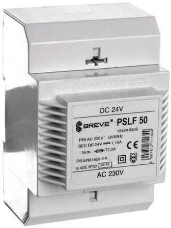 Zasilacz transformatorowy PSLF 50 230VAC/24VDC 28W 1,1A /z filtrem/ 18524-9995
