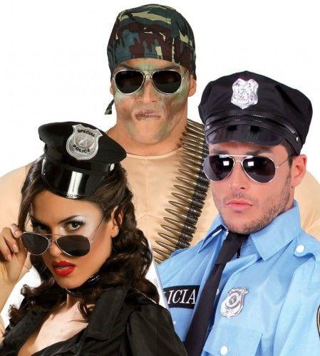 Okulary przeciwsłoneczne policjanta, twardziela