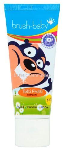 BRUSH-BABY pasta do zębów dla dzieci 3 - 6 lat, smak tutti frutti (50 ml)