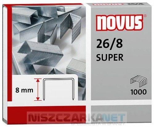 Zszywki do zszywaczy biurowych Novus 26/8 SUPER x1000