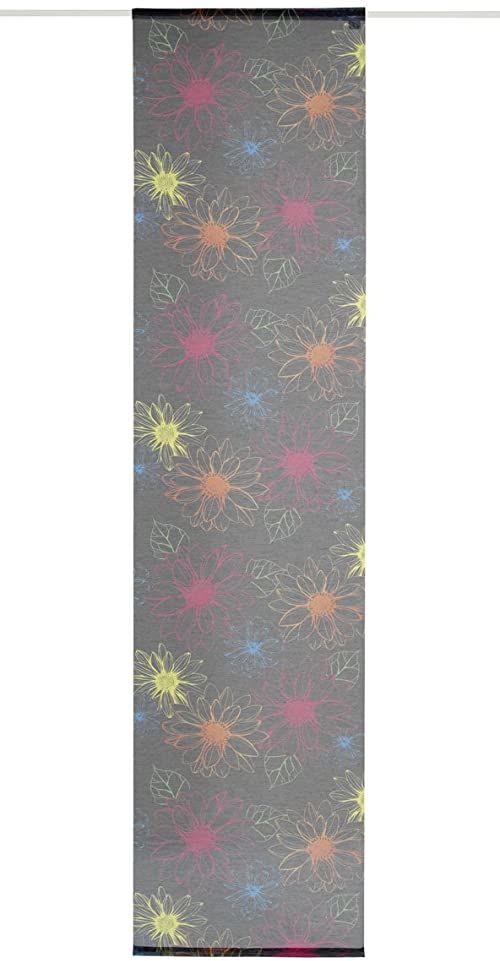 Dekoracyjna zasłona przesuwna, tkanina, kolorowa