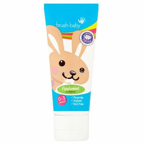 BRUSH-BABY pasta do zębów dla dzieci 0-3 lat, smak jabłkowo-miętowy (50 ml)