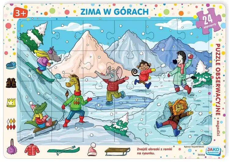 Puzzle ramkowe 24 Zima w górach - Wydawnictwo Jako