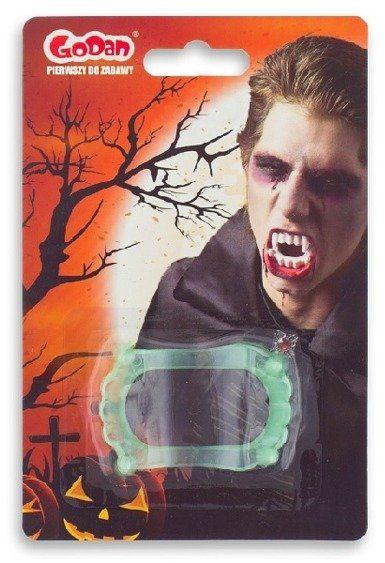 Świecące zęby wampira szczęka 1szt ZEWAS-YH
