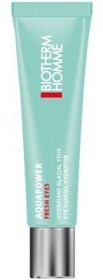 Biotherm Homme Aquapower Eye De-Puffer nawilżający żel do okolic oczu przeciw obrzękom 15 ml