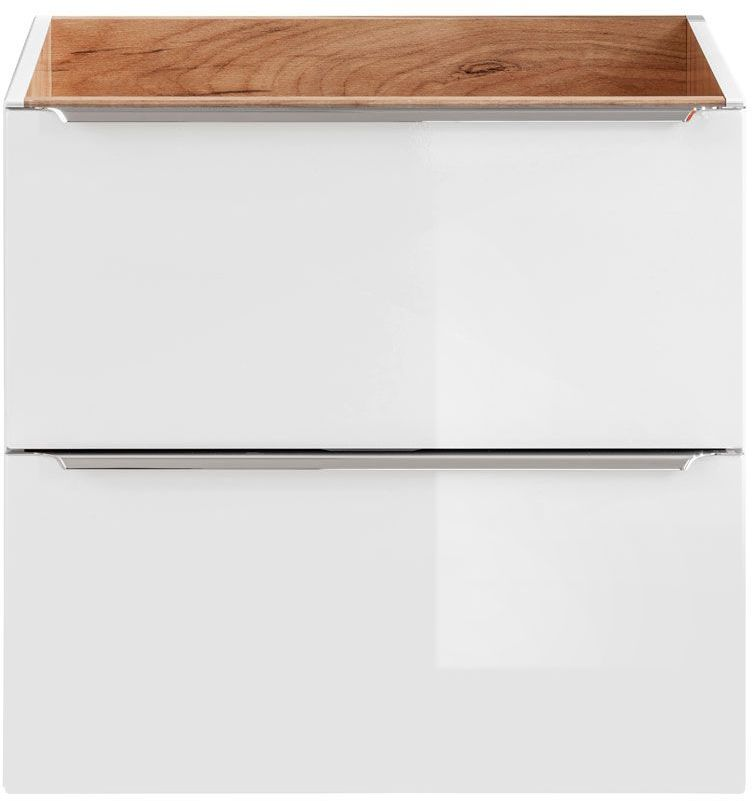 Podwieszana szafka łazienkowa pod umywalkę - Malta 3X Biały połysk 60 cm