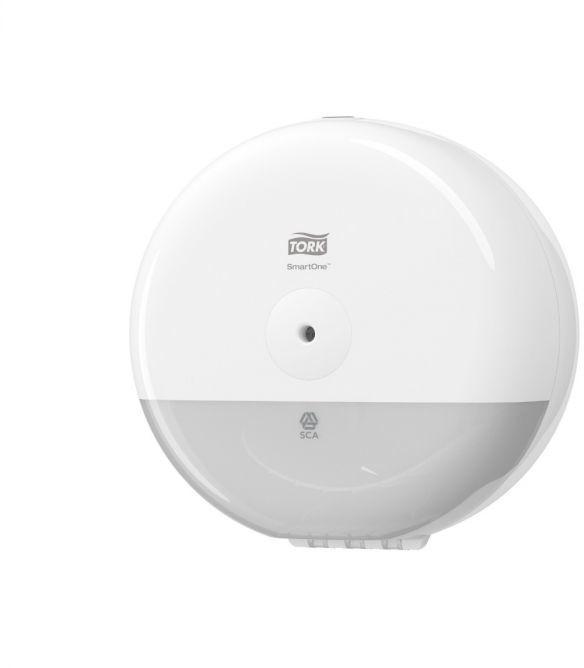 Mini dozownik do papieru toaletowego w roli Tork SmartOne biały