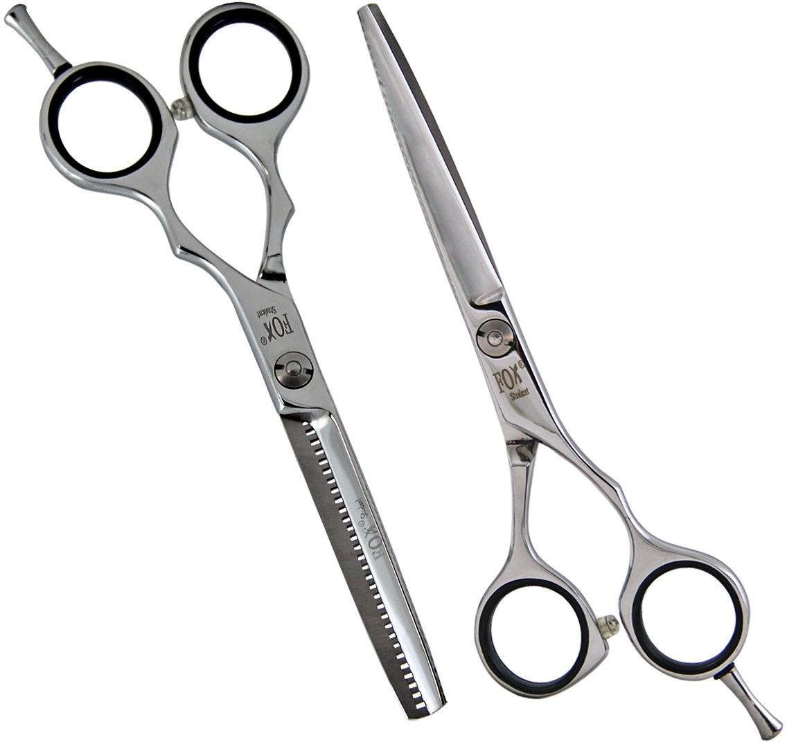 """Zestaw profesjonalne nożyczki + degażówki Fox Student 5,5"""""""